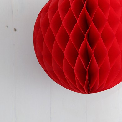 Tissue Paper Balls – Mini Red
