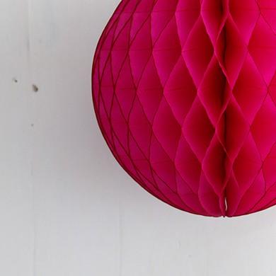 Tissue Paper Balls – Mini Cerise