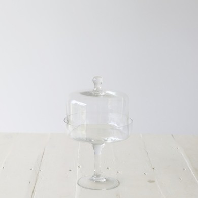 Kelly Glass Pedestal with Dome Medium