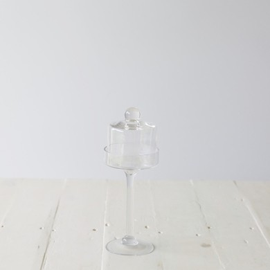 Kelly Glass Pedestal and Dome Small