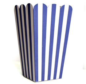 Tall Candy Box &#8211; Navy Stripe