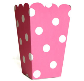 Tall Candy Box &#8211; Pink Polka Dot