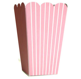 Tall Candy Box &#8211; Lt Pink Stripe
