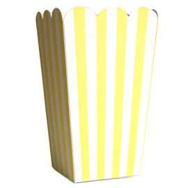 Tall Candy Box &#8211; Lemon Stripe