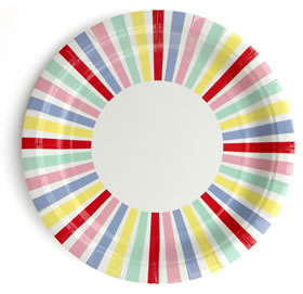 Plate &#8211; Carnival Stripe