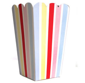 Tall Candy Box &#8211; Carnival Stripe