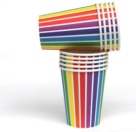 Cups – Rainbow Stripe