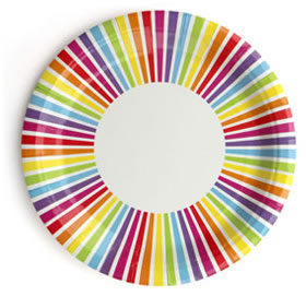 Plate &#8211; Rainbow Stripe