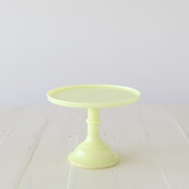 25cm Milk Glass Cake Stand – Buttercream