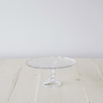 Marina Ornate Glass Cake Stand Lge
