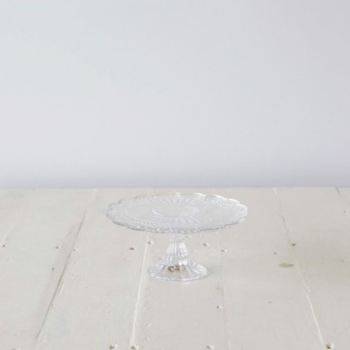 Marina Ornate Glass Cake Stand Sm